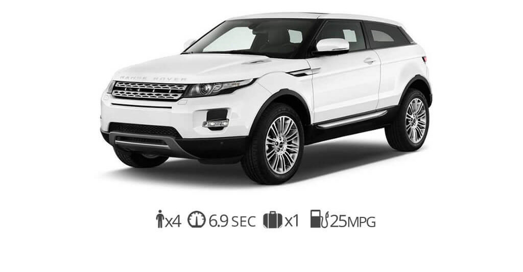 rent Land Rover Evoque rentals