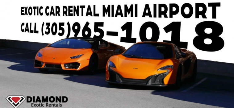 Exotic car rental Miami Airport